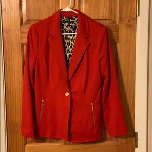 Rafaella studio RED blazer, size 10!!